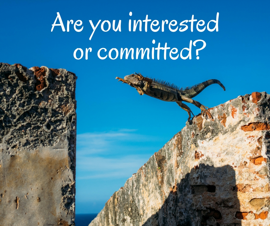 Are you interested or committed.